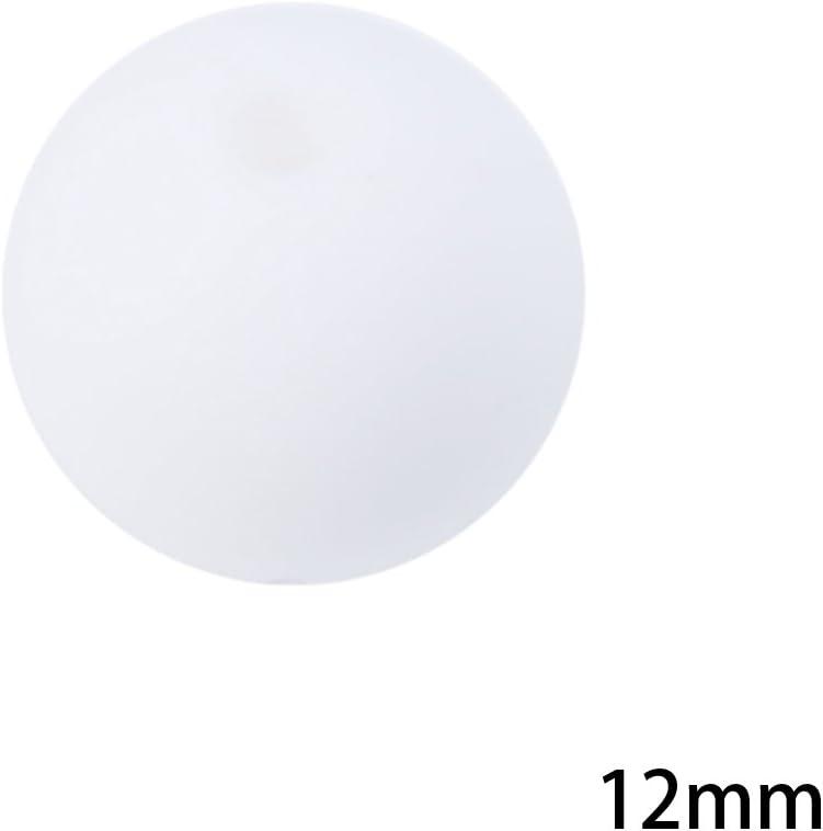 Lyguy Lot de 20 Perles Rondes en Silicone pour b/éb/é sans BPA Rose