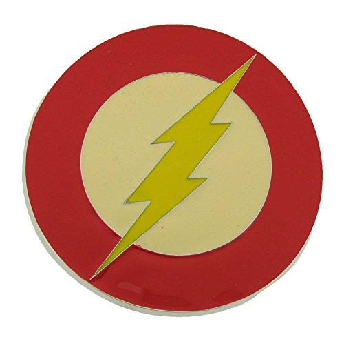 (Lightning Bolt Flash Symbol Dc Comics Logo Monogram Belt Buckle Unisex Metal )