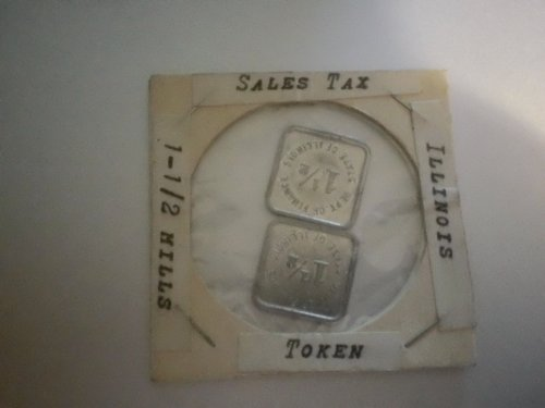 Sales Tax Token 1-1/2 Mills Illinois