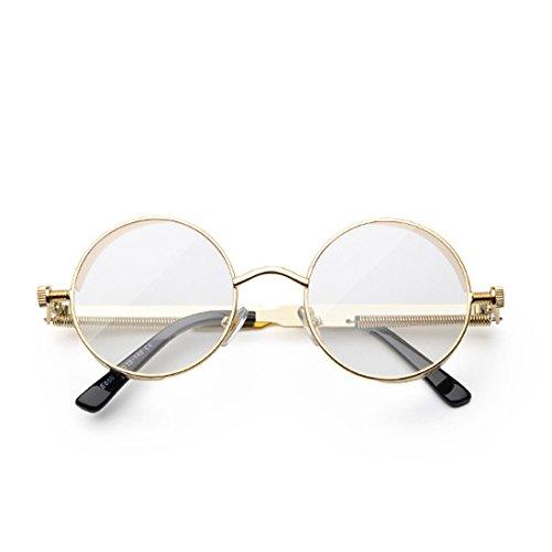 Lente Marco moda color retro de de sol sol Huicai Oro Gafas de círculo Marco de de de metal de Gafas qYwxY6p