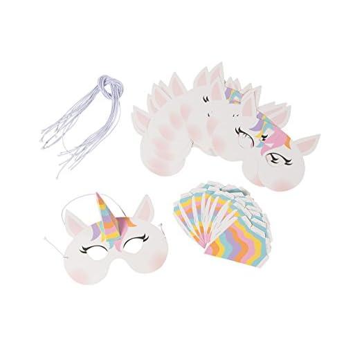 Unicorn Party Favors 12 Pack Rainbow Unicorn Masks For