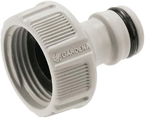 Gardena Hahnverbinder 26.5 mm (G 3/4 Zoll): Anschluss für Wasserhähne mit Gewinde, wasserdichte Verbindung, einfache Handhabung, verpackt (18201-20)