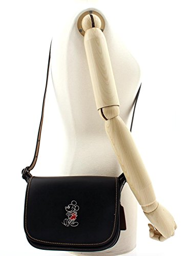 Saddle Patricia MICKEY Leather in COACH with Black Mickey Glove 23 Calf 0qwEE
