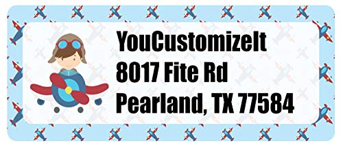 Airplane Theme Return Address Label (Personalized)