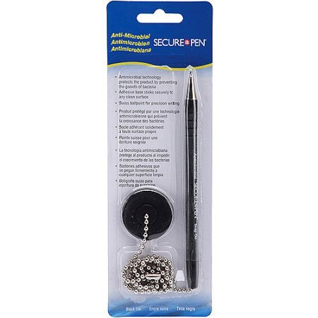 MMF Industries Counter Pen, 24-Inch Chain, Medium Point, Black Ink/Barrel (MMF28904)