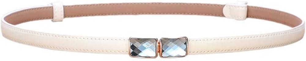 YXLMZ Cinturón De Diamantes De Imitación De Cuero Para Mujer, Sin Costura, Con Una Cadena De Cintura Delgada