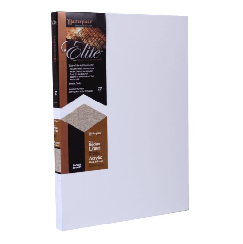 Masterpiece Elite 30-Inch by 36-Inch Canvas with Heavy Weight Belgian Acrylic Primed Linen by Masterpiece Artist Canvas