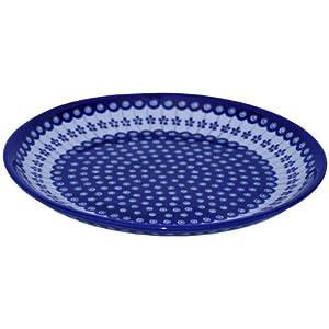 Original Bunzlauer Dinner Plate/Pizza Plate/Cake Plate, Diameter 33cm–decor 166a