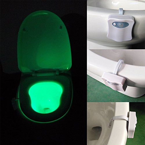 Colors motion sensor toilet seat night light motion actived 8 colors motion sensor toilet seat night light motion actived automatic seats led lighting bathroom lighting mozeypictures Image collections