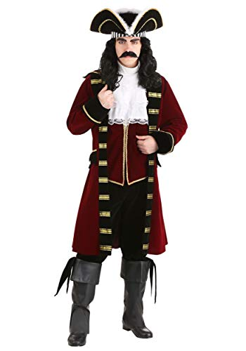 Deluxe Captain Hook Costume Men's Pirate Costume Medium -