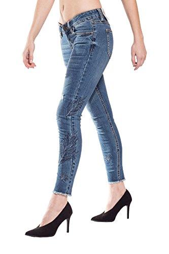 Blue Monkey Jeans - Vaqueros - Corto - Básico - para mujer Azul