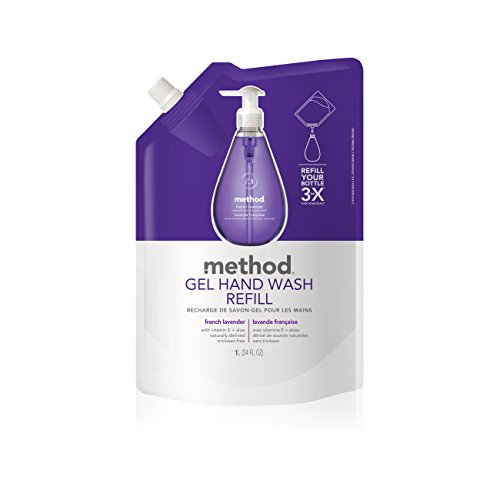 Method Gel Hand Soap Refill, French Lavender, 34 Ounce (Pack 6)