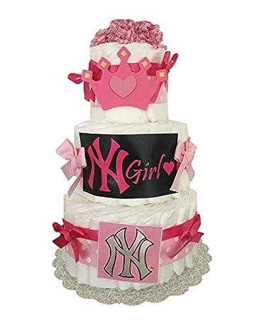 Amazon New Ny Yankees Diaper Cake Yankee Girl Baby Shower
