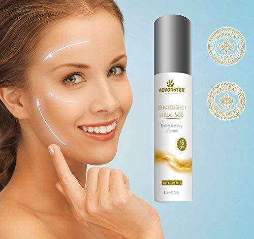Reafirma, regenera y tensa la piel, 100% natural, con factor protección solar 15, 50ml. NOVONATUR.: Amazon.es: Belleza