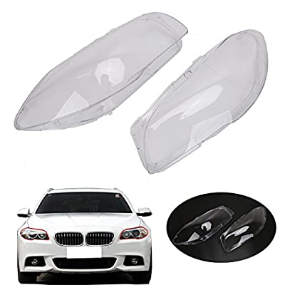 E-Most Clear Headlight Lens Plastic Shell Cover Lampshade for BMW F10 F11 2009-2013 528i 530i 535i 535d 550i M5 ActiveHybrid