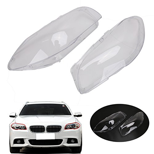 E-Most Right Clear Headlight Lens Plastic Shell Cover Lampshade for BMW F10 F11 2009-2013 528i 530i 535i 535d 550i M5 - Scratched Plastic Lenses