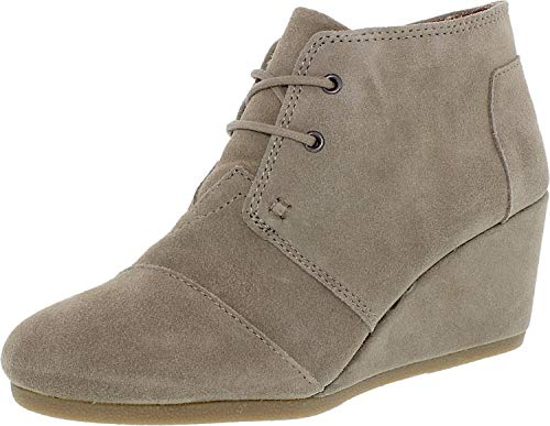 Beige Toms Wedges - Toms Womens Desert Wedge Boot Taupe