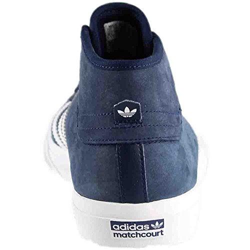 adidas matchcourt metà bianco / bianco / white pattinare shoes8 marina / bianco