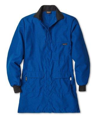 Nomex Lab Coats (Workrite Uniform 353CH45RBXL 0R Flame-Resistant/Chemical Protection Lab Coat, XL Size, 4.5 oz. Nomex IIIA Fabric, Royal Blue)