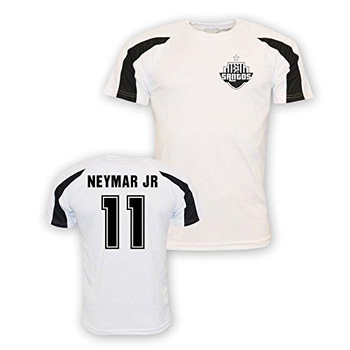 Neymar Jr Santos Sports Training Jersey (white) Kids B01MDR1K6FWhite LB (9-11 Years)