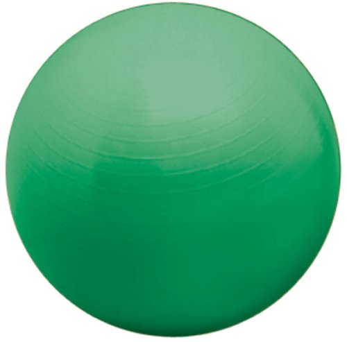 Valeo 65cm Anti-Burst Exercise Body Ball Includes 2-Way Action Pump for Fitness, Stability, and Balance, Green, VA3853GN