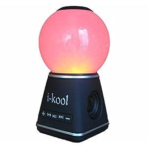 I-kool 4 Changing Colors Water Dancing Speaker Bluetooth 4.0 Wireless (Globe Black)