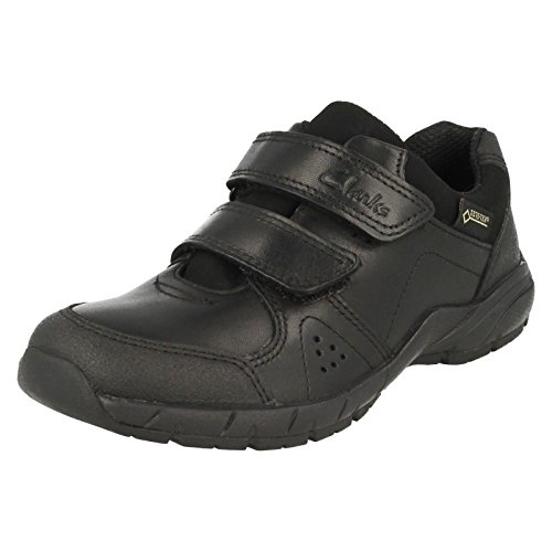 Clarks ZeviFunGTX Inf Boy's School Shoes in Black Black Leather
