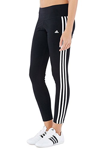 Adidas Womens Essential 3 Stripe Tight S21020 (Small, Black/White) - Essentials Womens Stripe