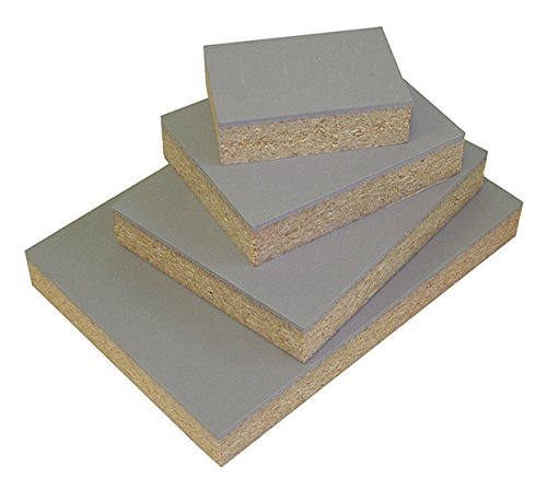Speedball Red Baron Gray Linoleum Block: Mounted to 3/4 Particle Board, 3 x 5 3 x 5