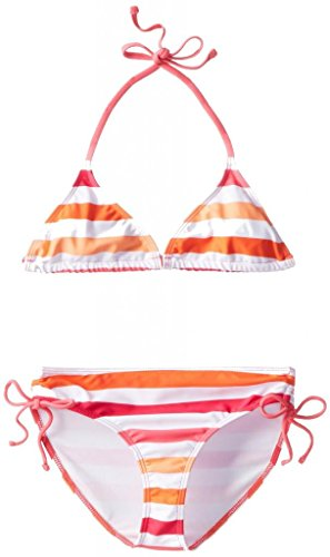 Kanu Surf Little Girls' Sassy Bikini Swimsuit, Pink/Orange, 2T ()