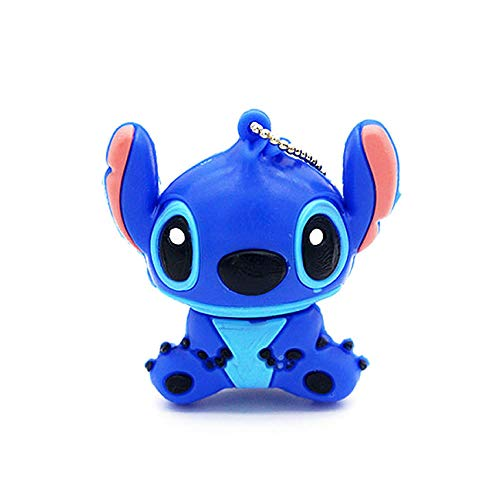 (Novelty Stitch Blue Shape Design 16GB USB 2.0 Flash Drive Cute Memory Stick Stitch Thumb Drive Data Storage Pendrive Cartoon Jump Drive Gift (Stitch Blue-16GB))