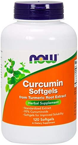 Curcumin Turmeric Root Extract 120 Softgels by NOW