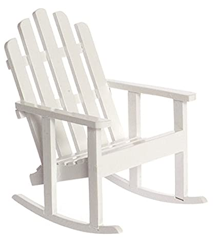 Amazon Com Dollhouse Miniature 1 12 Adirondack Rocking Chair In