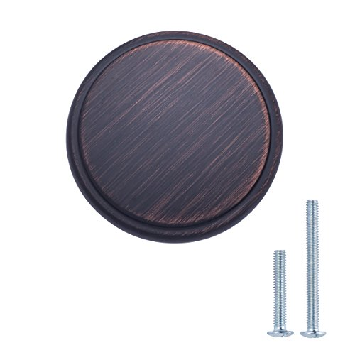 AmazonBasics Modern Wide Top Ring Cabinet Knob, 1.52'' Diameter, Oil Rubbed Bronze, 25-Pack by AmazonBasics