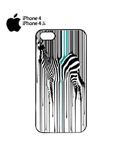 Dripping Zebra Art Animal Barcode Mobile Cell Phone Case Cover iPhone 4&4s White by icecream design