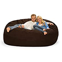 Extra Large 6' Fuf Comfort Suede Bean Bag Cover Only-Brown By Ink Craft