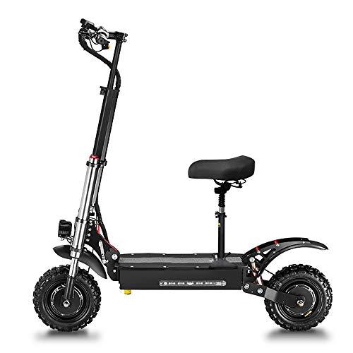 Elektrische Scooter 5400W Dubbele Motor Max. Snelheid 85 km/u Dubbele Ophanging Dubbele LED-koplampen 11-inch Off-road…