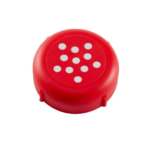 Cheese Server Grated (Revolutionary New 6-8 OZ Plastic Cheese Shaker Lids 1 Dozen. Rust Proof! (Red))