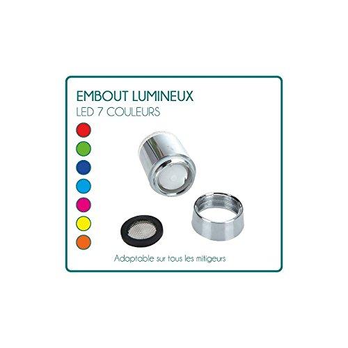 Embout lumineux à LED pour mitigeur robinet 7 couleurs Desineo