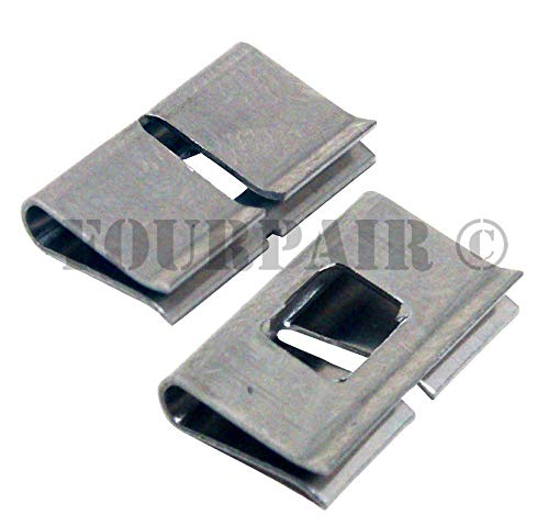 100 Pack 66 Punch Down Wiring Block Stainless Steel Metal Bridge Bridging Clips ()