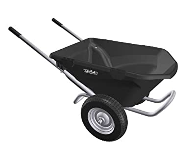 Lifetime 65034 6.5 Cubic Foot Poly Dual Wheel Wheelbarrow