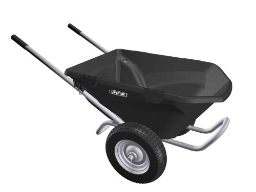 Lifetime 65034 Two Wheel Wheelbarrow, 6.5 Cubic Feet Capacity by Lifetime