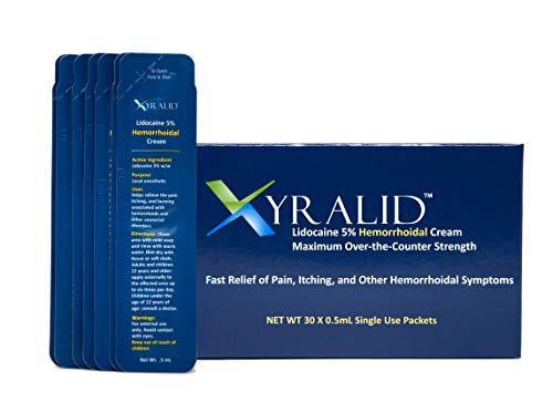 Xyralid Hemorrhoidal Cream - Helps Reduce Swelling or Inflammation of Hemorrhoidal Tissues Provides Soothing Relief from Burning, Itching and Discomfort (30 single use sachets)