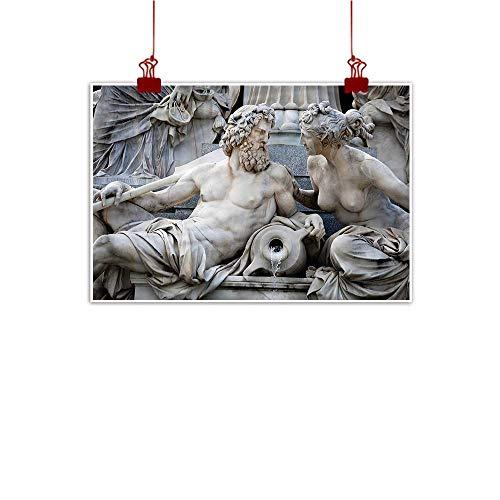 - Mangooly Canvas Wall Art Sculptures,Male Female Fountain 24