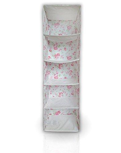 Ikea Skubb - Organizador de ropa para armario (5 compartimentos), diseño de rosas