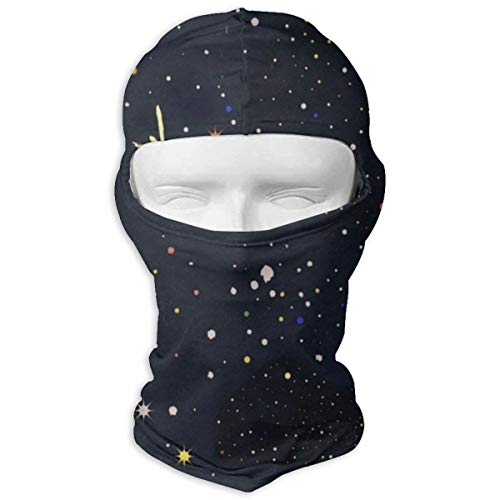 (Balaclava Stars Moon Sun Galaxy Space Universe Nebula Full Face Masks UV Protection Ski Hat Womens Headwear for Motorcycle)