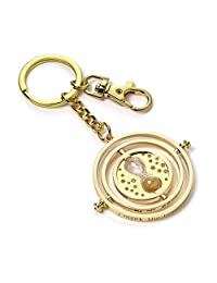 Official Harry Potter Rotating Time Turner Keyring Keychain - Gold Plated