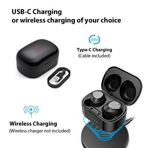 True Wireless Earbuds Bluetooth 5.0 Headphones, Clear Voice Call in-Ear Headset IPX7 Waterproof 40H Wireless Charging…