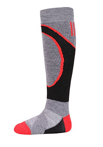 Kids Snow Ski Socks Lightweight Full Terry Warm Merino Wool Skiing Socks L