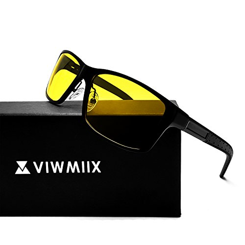 HD Night Vision Glasses for Driving Cycling Polarized Anti-glare Yellow Lenses UV400 Sunglasses for Men - Glare Reducing Sunglasses